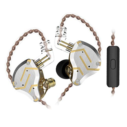 KZ Stereo Bass Headphones Headset Noise Cancelling 4BA+1DD Earbuds with Mic