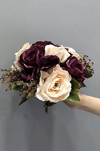Hayalperest Mürdüm Lachs künstliche Blume BrautStrauß Braut, Hochzeit, Brautstrauß, Brautblume, Hand Blume, Zeremonie, Blume