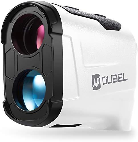 OUBEL Telemetro Golf, 1200/800 Yard Telemetro Caza, 6 X & 4 Modes, Bloqueo del Poste de La Bandera, Vibración, Modo de Escaneo, Rastreo de Presas, Telémetro Láser de Golf de con inclinació