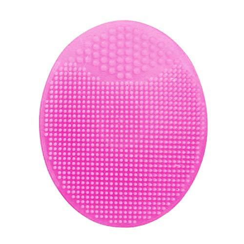 Brosses de toilette Wash Pad Visage Exfoliant comédons visage Clean Silicone Shampooing Pinceau Rouge