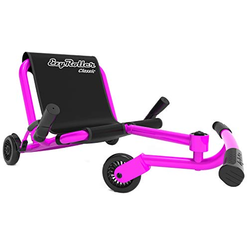 EzyRoller Ride On Toy - New Twist On A Classic Scooter - Pink