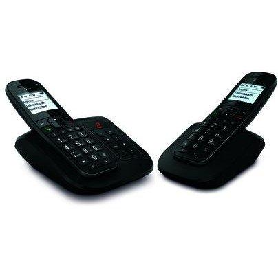 Telekom Sinus A206 + 206 Pack Comfort Duo mit AB schnurlos analog Festnetz Telefon