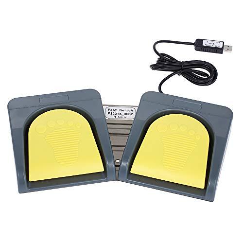 Docooler PCsensor USB-2-Fußschalter/ Pedale, Multimedia-Eingabegerät