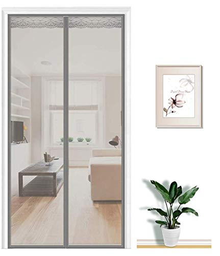 Cortina Mosquitera Magnética Para Puertas ventanas Tamaño personalizable Cortina Mosquitera Para Puertas Que Evita el Paso de Insectos. Fácil de ensamblar 60x170cm