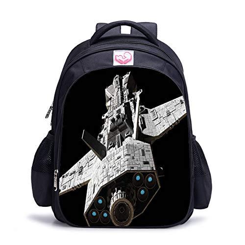 YUNSW Mochila Infantil con Impresión 3D, Mochila Infantil Multifuncional Impermeable Y Duradera, Mochila Infantil con Patrón De Nave Espacial 3D, Mochila con Mochila con Estampado De Nave Espacial