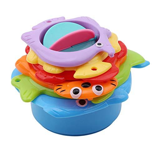 Eleusine Badstapelbecher Nistbecher für Kinder Badespielzeug Perfekt für Badewannen Lernspielzeug Badespielzeug für Kinder