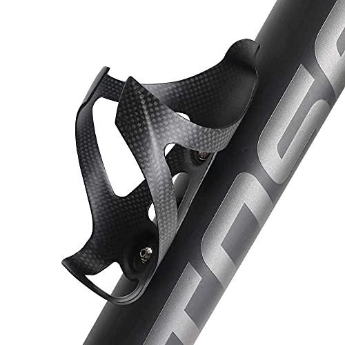 Blusea Carbon Fiber Fahrrad Flaschenhalter für MTB/rennräder/falträder,Radfahren Flaschenhalter einschließlich Schrauben, Matte