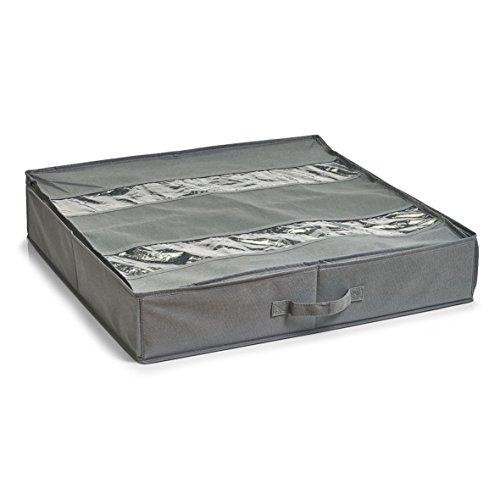 Zeller 14610 Schuh-Aufbewahrungs Box, flexibel, Vlies, Stoff, ca. 60 x 60 x 13 cm, grau