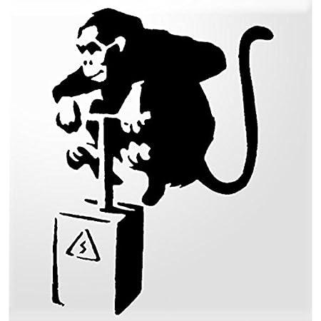 Banksy Keep It Real Monkey Sticker Vinyl Decal Wall Laptop Window Car Bumper Sticker 5