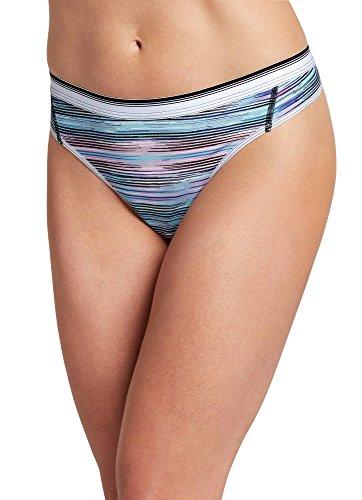Jockey Women's Underwear Sporties Mesh Thong, Black, 5