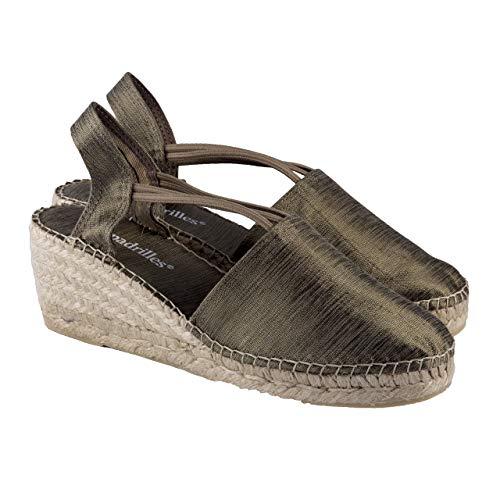 2 Espadrilles - Alpargatas Fabricadas a Mano en España Espadrilles Esparto Zapato para Mujer Tacón Isabel