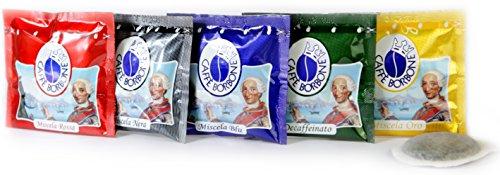 150 Caffè Borbone (PACCO DEGUSTAZIONE MISCELA ROSSA-BLU-NERA-ORO-DEK) in omaggio carte modiano Gusto e Caffè per ogni singola confezione.
