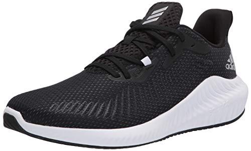 adidas Men's Alphabounce+ Running Shoe, core Black/Silver Met./core Black, 9.5 M US