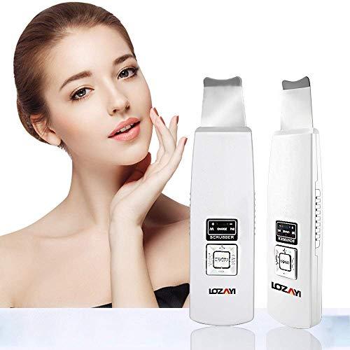 Skin Scrubber Mitesserentferner Ultraschall Porenreiniger Peeling Gesicht Ultraschallpeelinggerät...