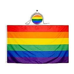 "LGBT Oval 3/""x5/"" Transparent Oval Decal Gay Pride Windshield sticker rainbow Love"