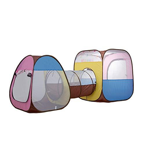 CSQ Tienda for bebés portátil, Zona de Juegos Océano Bola de Piscina al Aire Libre de Gran tamaño Juego Tent Park Cabañas niños con túnel de 207 * 90 * 90cm Casa de Juegos para niños