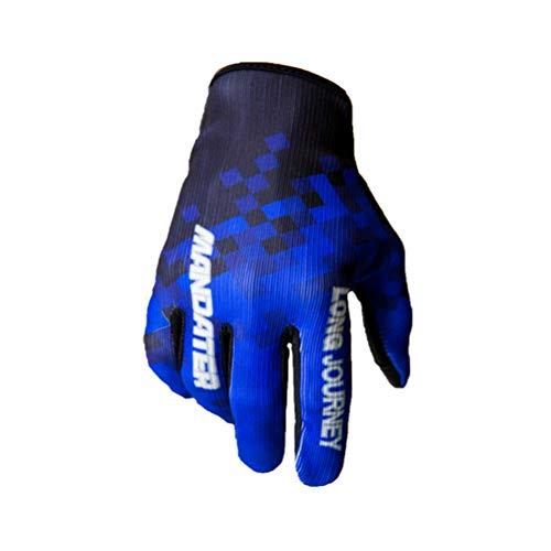 ShallGood Windundurchlässiger Wasserdichter Touchscreen Outdoor Sport Handschuhe Für Damen Herren Finger Schutz-Motorrad Reithandschuhe Rockstar Kletterhandschuhe Z1 Blau M
