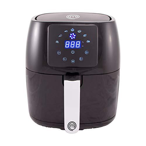 MasterChef Fritteuse ohne Fett, Verstellbare Temperatur (80 - 200 °C), 4,5 l Behälter, PTFE-Antihaftbeschichtung, Spülmaschinengeeignet