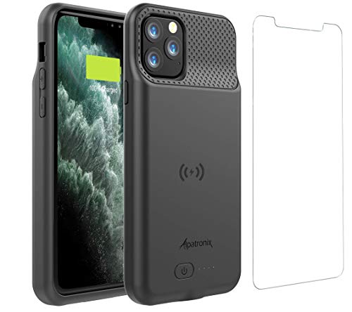 Alpatronix iPhone 11 Pro Battery Case, 4200mAh Slim Portable Protective Extended Charger Cover with Wireless Charging Compatible with iPhone 11 Pro (5.8 inch) - (Black)
