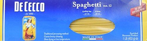 De Cecco Enriched Macaroni Product - Spaghetti Pasta (16 oz ea)