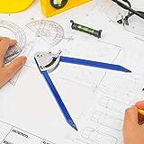 Astibym Práctica Herramienta de Marcado Medidor de Marcado Brújula precisa para carpintería(150mm)