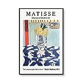 Famoso Henry Matisse Fauvista Exposición de arte Carteles e impresiones Sala de estar Mural Retro Lienzo sin marco familiar Pintura D 40x50cm
