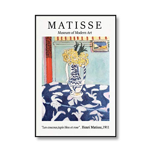 Famoso Henri Matisse fauvismo lienzo pintura arte exposición cartel Retro hogar sin marco lienzo pintura A3 50x70cm