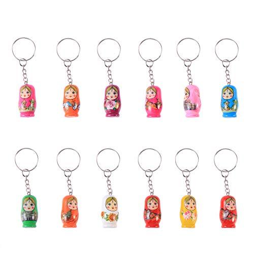 Matroschka Schlüsselanhänger TOYMYTOY Puppen Handyanhänger Handtasche Anhänger 12 Stücke
