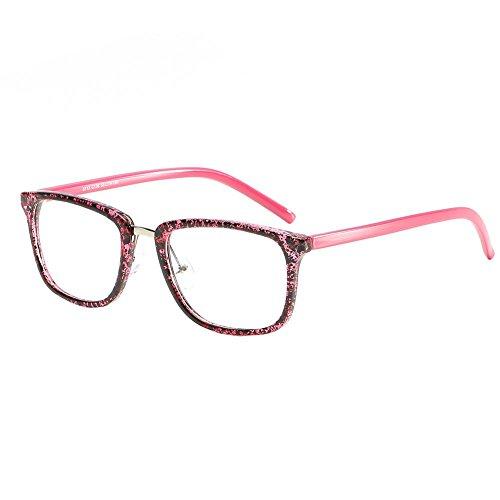Gowind6 Brille, Retro, quadratisch, Metall, optisch, flach, Spiegel