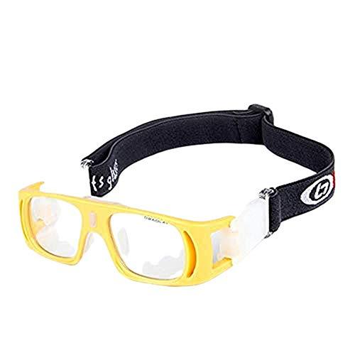 Kinderen outdoor basketbal voetbal badminton anti-shock sportbril - Helder geel