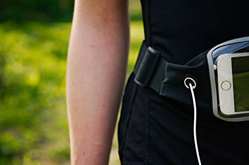 DURAGADGET Cinturón Deporte Elástico Ajustable Para Smartphone/Teléfono Móvil Huawei P8 y Mate S, Google Nexus 5X y 6P - Ideal Para Correr