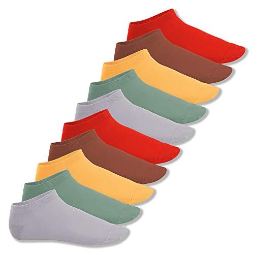 Footstar Herren und Damen Sneaker Socken (10 Paar), Kurze Sportsocken aus Baumwolle - Sneak It! - Urban Camouflage 39-42