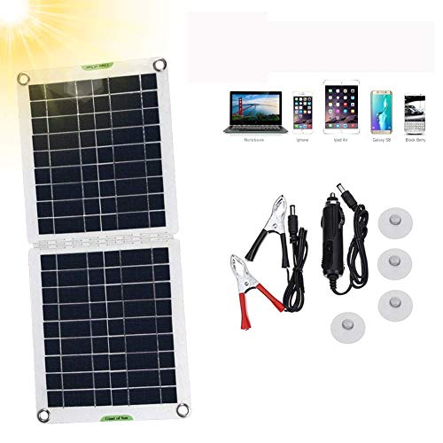 20W 12 V Faltbar Solarpanel outdoor Tragbare Solar Ladegerät kit mit 10A Solarladeregler für Wohnmobil, Wohnwagen, Wandern,Boot,Auto,Outdoor 12 V Batterieladung
