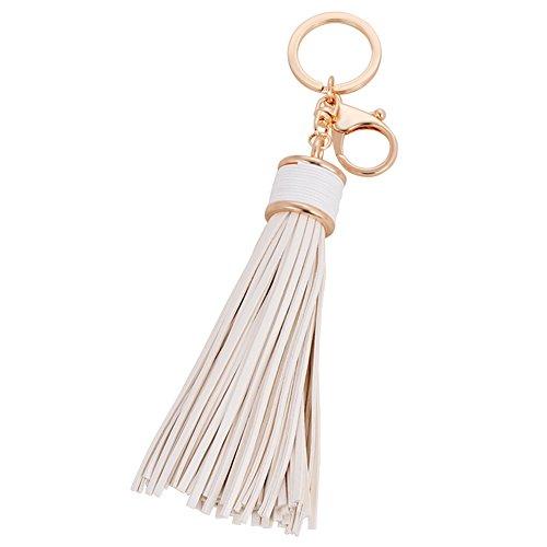 Artily Leder-Quasten-Schlüsselanhänger, modischer Quasten-Schlüsselanhänger für Damen, Handtasche, Handtasche, Tasche, Anhänger, Dekoration, Accessoire, Geschenk