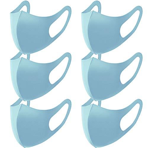 Hombasis マスク 黒 6枚入 綿 ファッションスタイル 20回繰り返して使用可 水洗い可 花粉対策 秋冬 メンズ ...