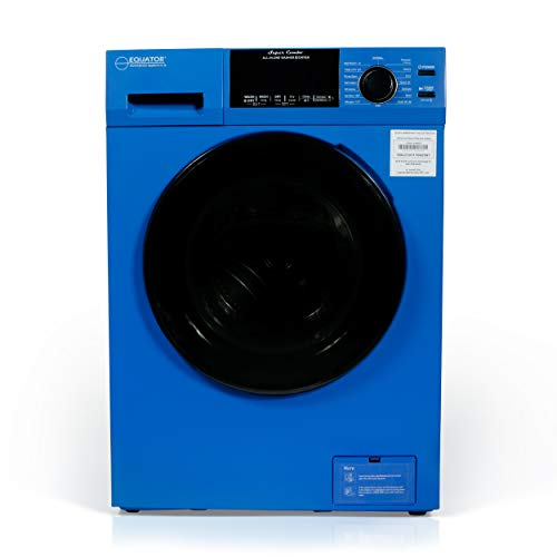 Equator 18 lbs Combination Washer Dryer - Sanitize, Allergen, Winterize,Vented/Ventless Dry- 2021 Model (Blue)