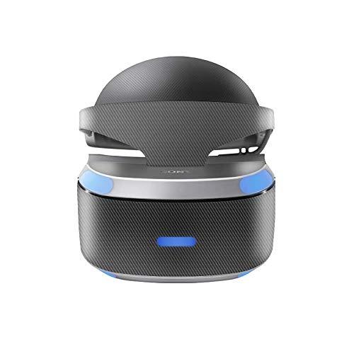 Skins4u Aufkleber Design Schutzfolie Vinyl Skin kompatibel mit Sony PS4 Playstation 4 VR Brille Carbon Look