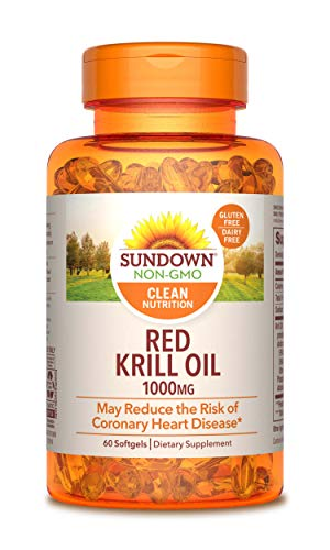 Price comparison product image Sundown Triple Strength Red Krill Oil 1000 mg,  60 Softgels (Packaging May Vary)