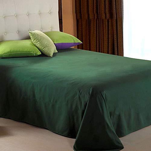 Kelitinaus, biancheria da letto traspirante, assorbente e traspirante, in policotone, lenzuolo confortevole, 120 x 220 cm, verde, 230 x 245 cm (230 x 245 cm)
