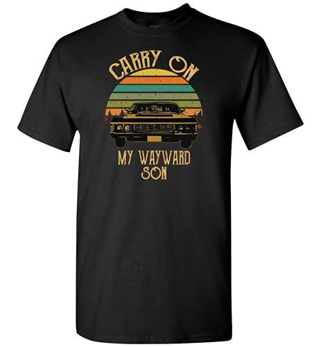 Carry On My Wayward Son Vintage Chuan Det Full HD Camiseta, camiseta negra, L