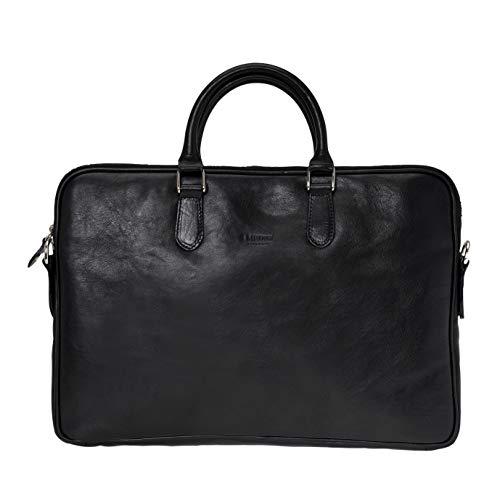 Medici Firenze, Bolso portatil, maletin para portatil de piel, business bag, 15 inch...