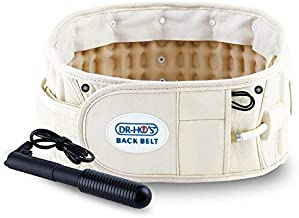 DR-HO'S 2-in-1 Decompression Belt for Lower Back Pain Relief and Lumbar Support - Basic Package - Size A (25-41 Inches) and 1 Year Warranty