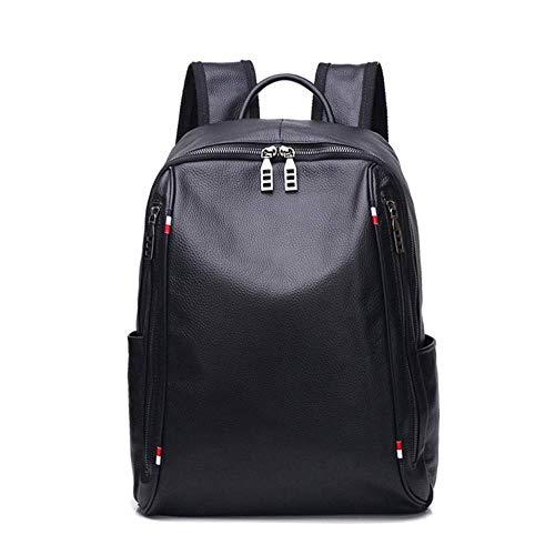 MARKS Fashion Outdoor Backpack Leather Backpack Ladies Men Backpack Leather Computer Bag Large Capacity Travel Bag Business Bag