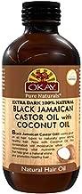 OKAY | Extra Dark 100% Natural Black Jamaican Castor Oil with Coconut Oil | For All Hair Textures & Skin Types | Grow Strong Healthy Hair - Moisturize & Revitalize Skin | 4 Oz