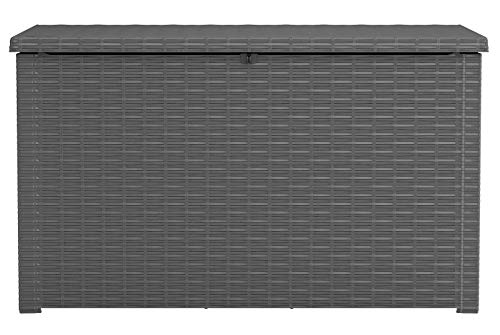 Keter Java XXL 230 Gallon Outdoor Storage Deck Box, Grey