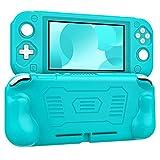 MoKo Hülle Kompatibel mit Nintendo Switch Lite, Weich Bequem Silikon Schutzhülle mit Rutschfestem Griff, Ultradünn Stoßfest Case für 2019 Switch Lite Konsole - Blaugrün