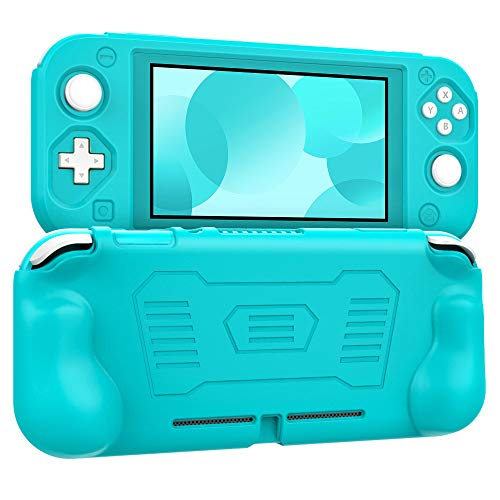 MoKo Grip Case for Nintendo Switch Lite, Anti-Collision Non-Slip Shockproof Silicone Case Cover Shell for Protecting Nintendo Switch Lite 2019 - Turquoise