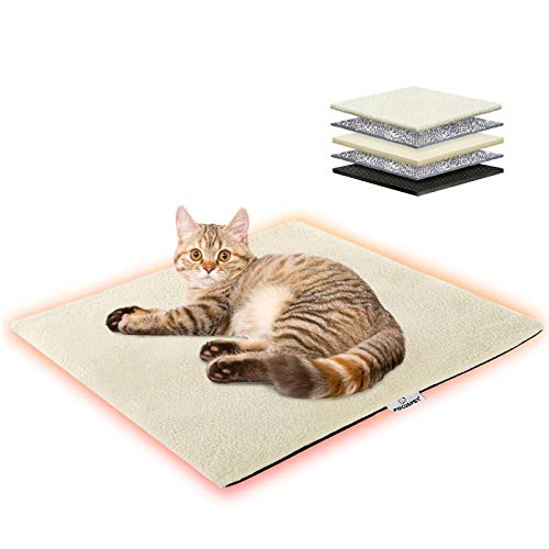 Focuspet Wärmedecke Katze, 60x45cm Katzendecke waschbar umweltfreundliche und...