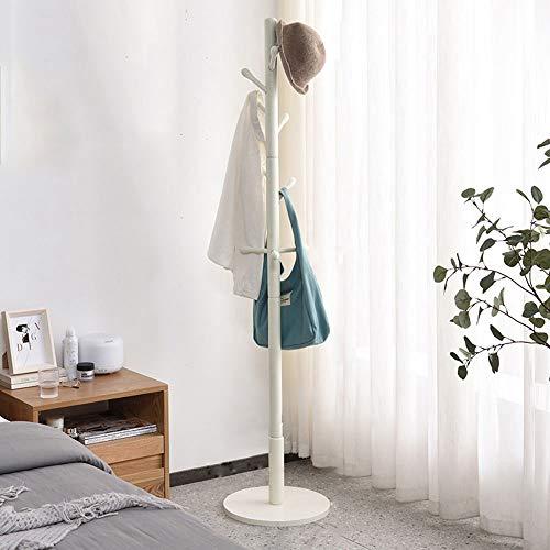 Perchero Perchero en Forma de árbol Perchero de Madera Maciza con Fondo de Disco Creativo Europeo Perchero para Sala de Estar y Dormitorio,White