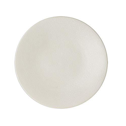 Table Passion - Assiette plate Vésuvio blanc 27 cm (Lot de 6)